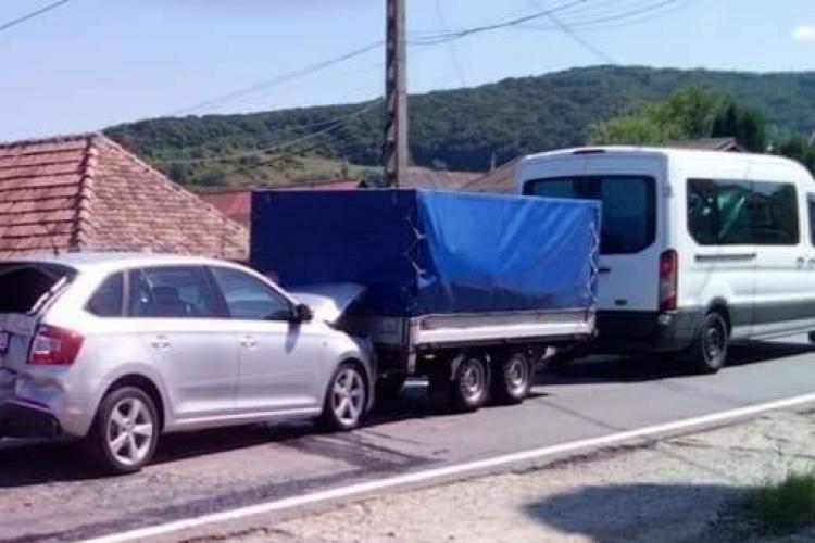 Accident cu 9 mașini lângă Cluj - FOTO