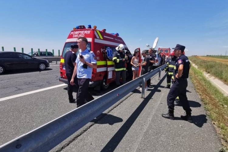 Carambol cu patru mașini în Brașov, trei oameni sunt răniţi