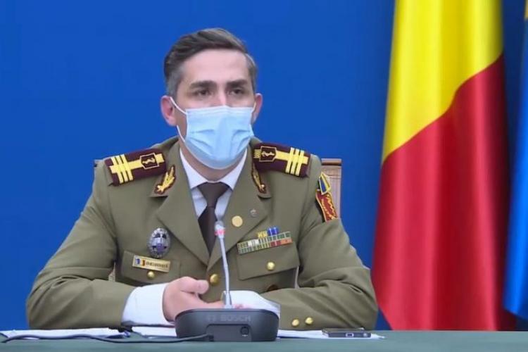"""Valeriu Gheorghiță spune că """"vârful valului 4 al pandemiei va fi atins la jumătatea lui septembrie"""""""