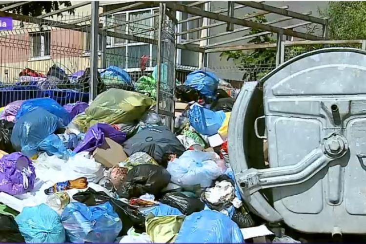 Alba Iulia, la un pas de stare de alertă. Mormane de gunoaie zac pe străzi, neridicate de câteva zile
