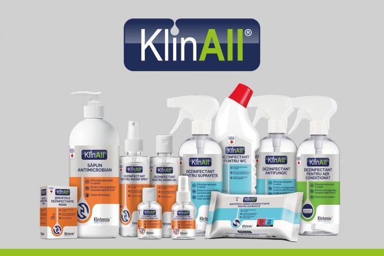 Klintensiv, cu cele mai vândute produse în spitale în 2020, lansează un brand nou de dezinfectanți pentru consumatorul casnic