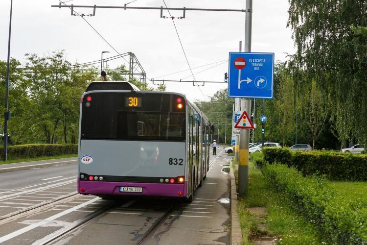 Transportul în comun are trasee modificate în zona Parcului Central din Cluj-Napoca