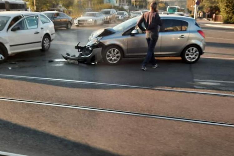 Accident rutier pe strada Primăverii -FOTO