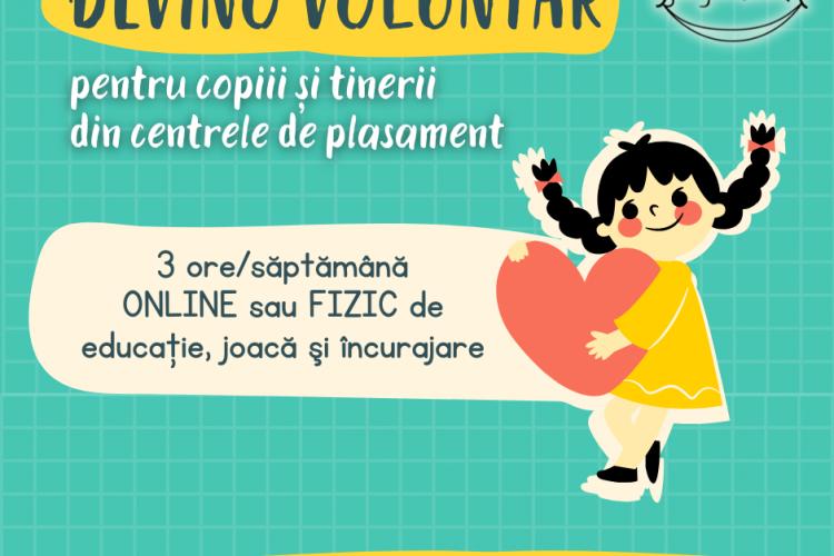 Devino voluntar pentru copiii din centrele de plasament din Cluj. De ce aleg unii clujeni să facă voluntariat?