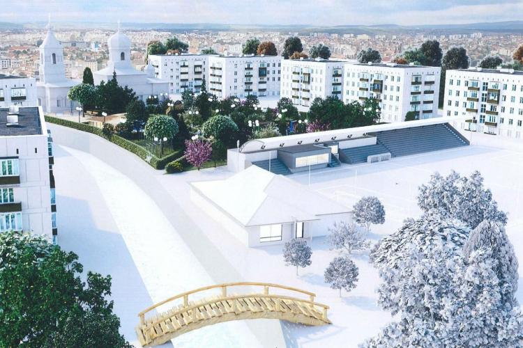 Se modernizează parcul Farmec din Mărăști - FOTO