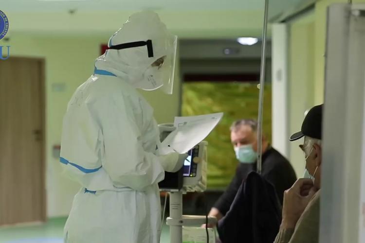 Peste 200 de pacienți internați la Cluj după infectarea cu COVID-19