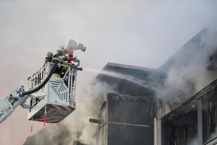 Galerie FOTO cu incendiul de pe Tăietura Turcului. Incendiul de la Tetarom a fost vizibil din tot orașul