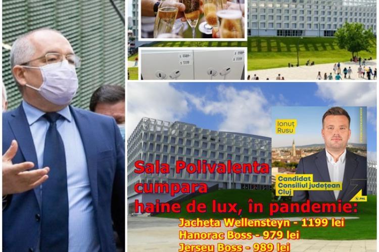 Ne cred PROȘTI! Recunosc că Ionuț Rusu, dir. Sălii Polivalente Cluj, și-a luat haine de lux din bani publici, dar i-au dat numai 10% sancțiune