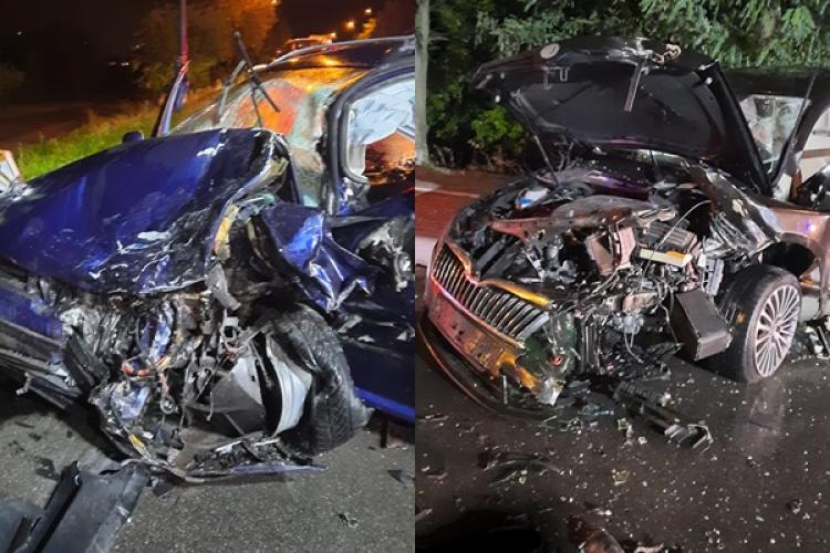 Accident grav! La cum arată mașinile, airbag -urile au salvat viața șoferilor - FOTO