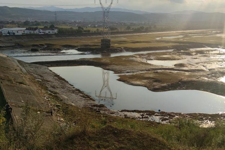 Barajul din Florești a fost golit din nou, după acțiunea din 2017 - FOTO