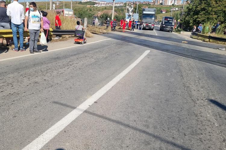Cluj: Un om a murit după ce a fost LOVIT de tren în Apahida - FOTO