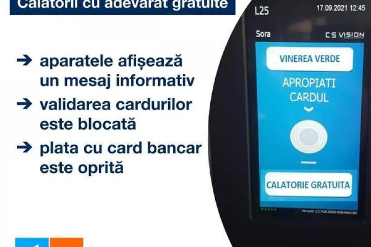 Un consilier local propune blocarea aparatelor de validat biletele când e Vinerea Verde
