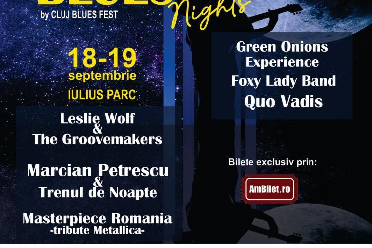 """Ultimul festival OPEN AIR de muzică din Cluj-Napoca, """"Rock & Blues Nights by Cluj Blues Fest"""", are loc în Iulius Parc"""