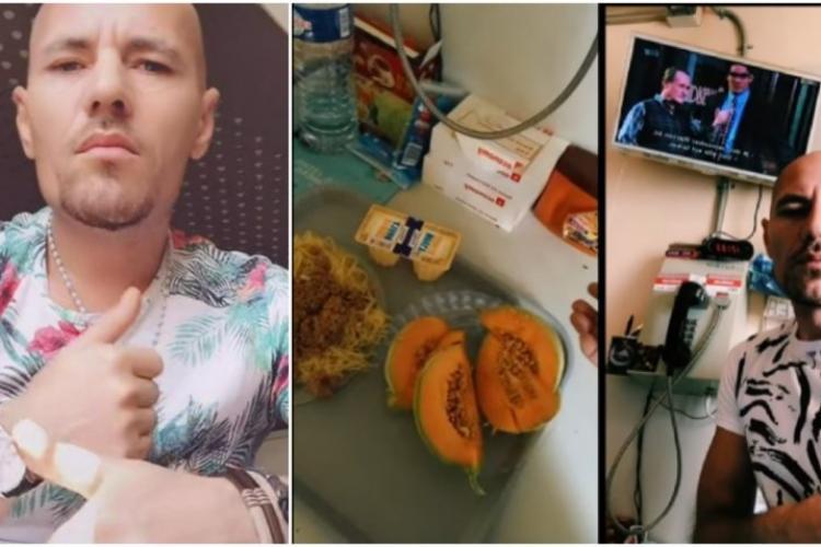 """Românul care postează ce mănâncă în închisoare a ajuns viral: """"Contribuabilii ne plătesc, noi o ducem regește!"""" - VIDEO"""