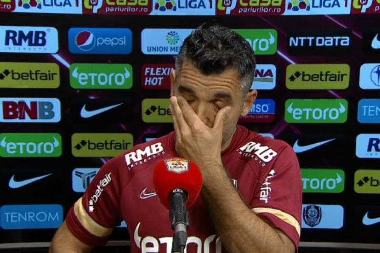 Culio a plâns în direct la TV, după victoria cu Craiova
