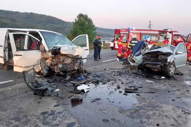 Accident rutier GRAV în Căpușu Mare. Șoferii au MURIT - VIDEO