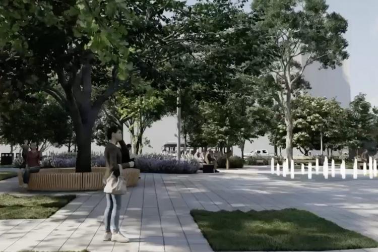 Clujenii se tem că va fi distrus și parcul din spatele Teatrului Național. Se taie gardurile vii? - FOTO
