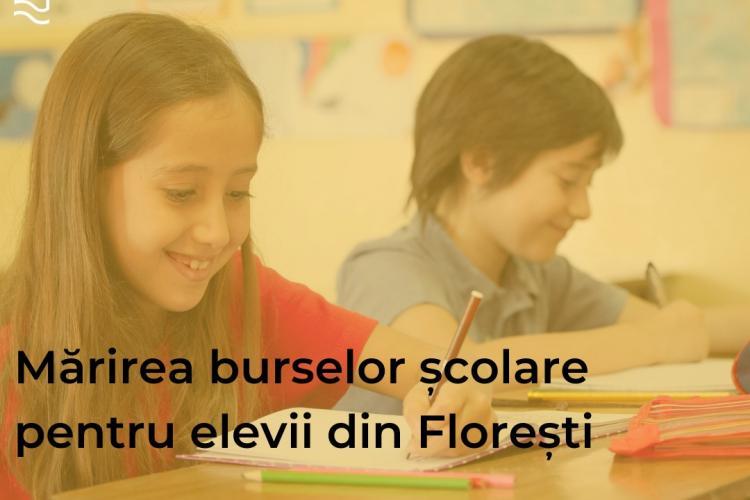 Floreștiul mărește bursele școlare pentru elevi