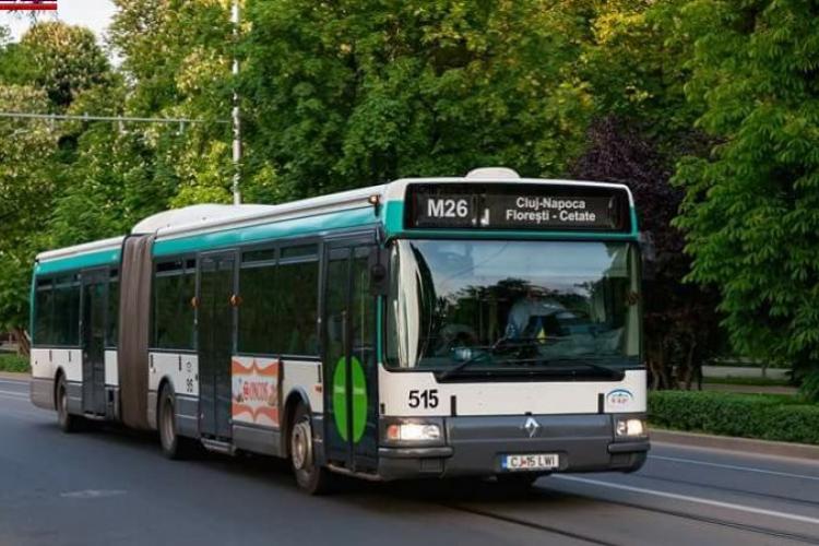 Florești: Linia M26 își schimbă traseul. Autobuzul va merge din nou pe strada Memorandumului