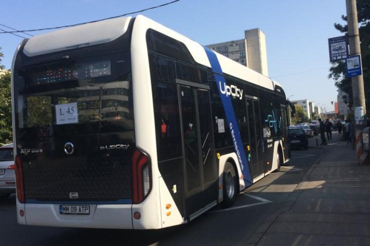 Autobuzul 100% electric românesc, în teste pe linia ce leagă Zorilor de capătul cartierului Gheorgheni prin Bună Ziua