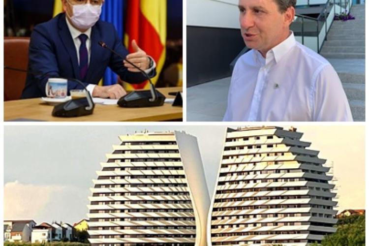 """Boc vorbește tranșant cu mogulii imobiliari ai Clujului. Ce i-a spus milionarului Dorin Bob, care a făcut blocul cu """"aripi"""""""