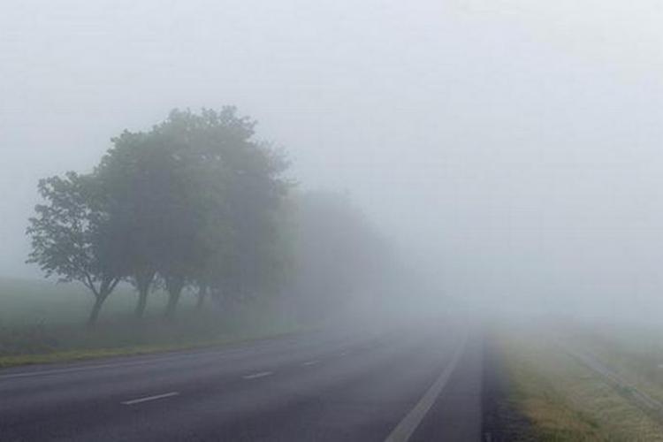 Avertizare meteo. Cod galben de ceață în Cluj și alte două județe
