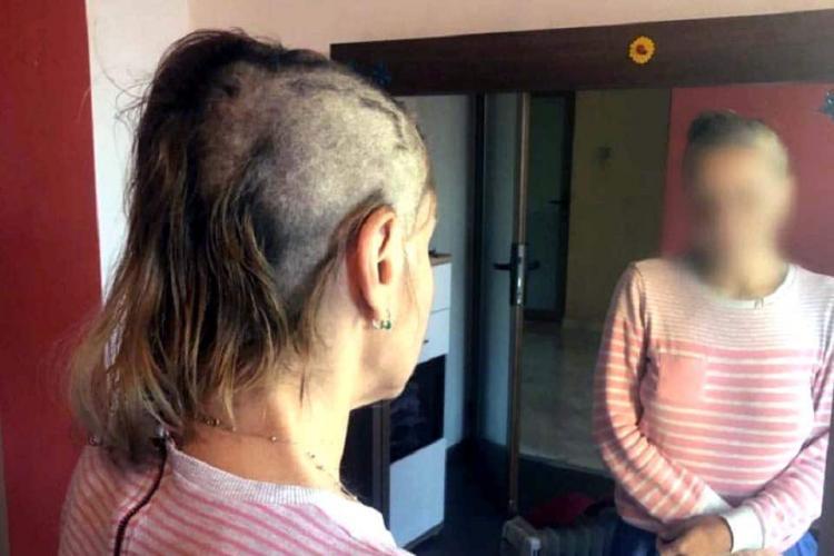 """Contabilă tunsă, bătută și umilită! Agresorii spun că ei sunt victimele: """"O să-i crească părul la loc. Poate să-şi pună perucă"""""""