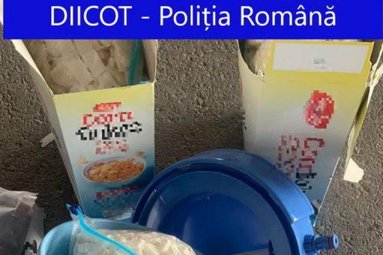 Droguri din Olanda, transportate la Cluj în cutii de cereale - FOTO