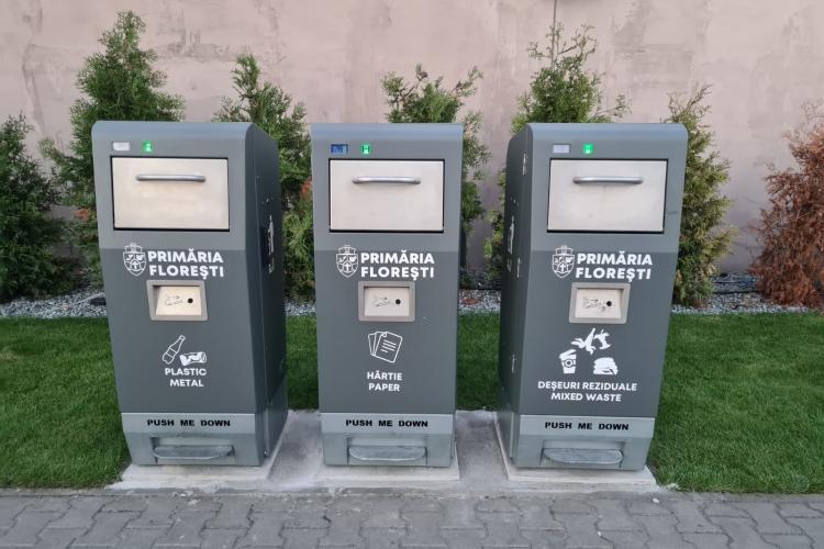 Colectarea selectivă a deșeurilor a fost implementată în Florești - FOTO