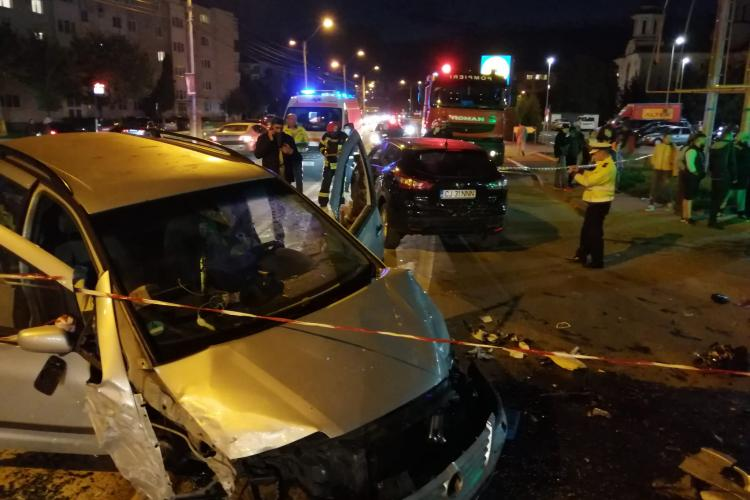 Accident cu trei mașini la Turda - FOTO