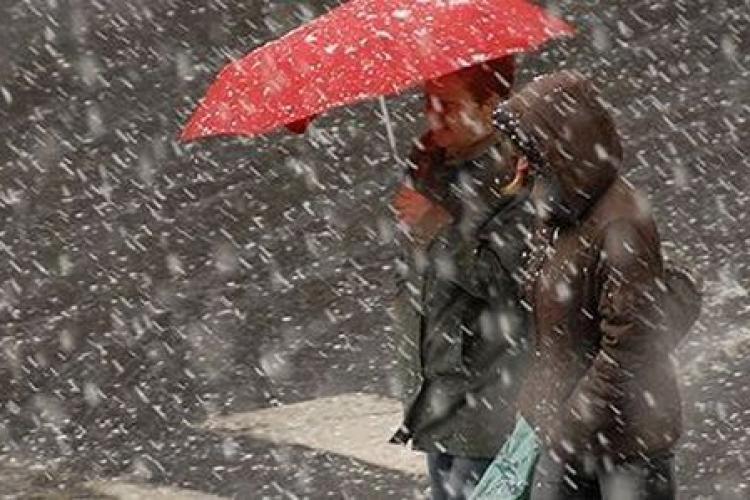 Meteo. Avertizare meteo de vreme deosebit de rece, lapoviță și ninsori în România