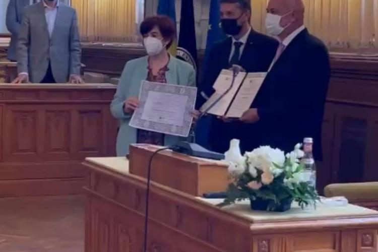 Daniel Metz a primit titlul de Profesor Honoris Causa al UBB Cluj - FOTO