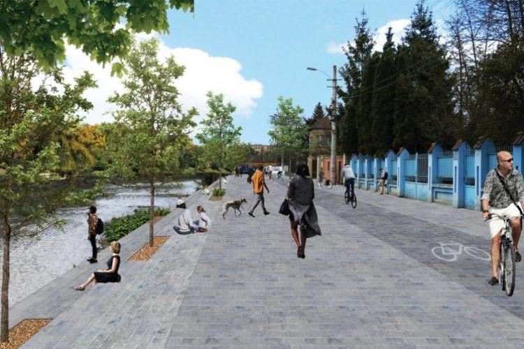 """S-a semnat contractul pentru lucrările de modernizare la malurile Someșului. Boc: """"Unul dintre cele mai ample proiecte de revitalizare urbană"""" - FOTO"""