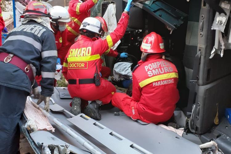 Accident grav în Șimleu Silvaniei. În mașină erau 4 copii - FOTO