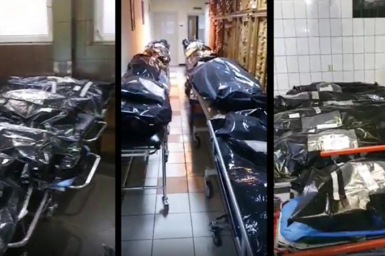 VIDEO - La un spital COVID s-au suplimentat saci pentru cadavre. Morga e plină