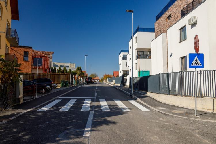 S-a asfaltat strada Mozart, extrem de importantă pentru cartierul Bună Ziua - FOTO