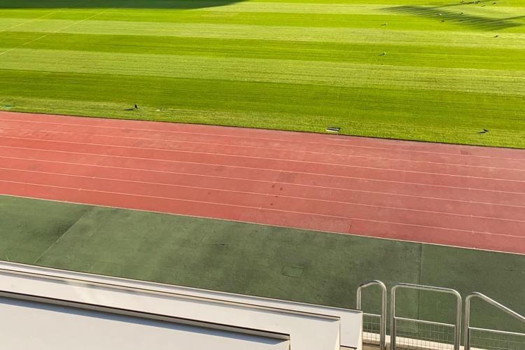 Gazonul de pe Cluj Arena, pregătit pentru competiții sportive - FOTO