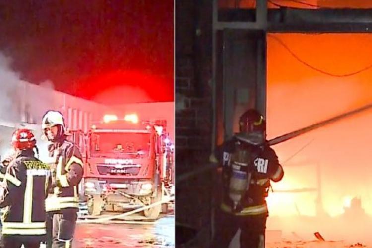 Centrul Comercial Transilvania din Târgu Mureș distrus complet după incendiul de marți seară
