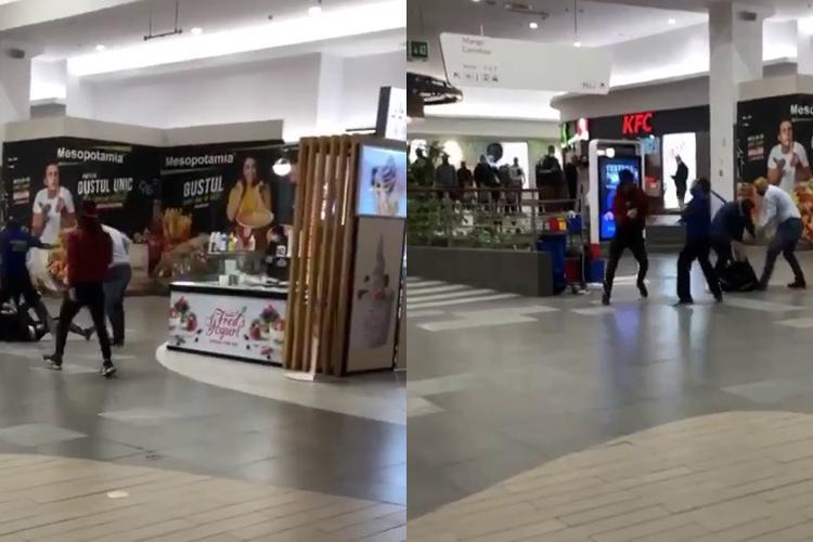 """Bătaie la VIVO Cluj: """"Bombardierii"""" cu TUPEU, care nu au vrut să arate certificatul COVID, amendați și bătuți bine - VIDEO"""