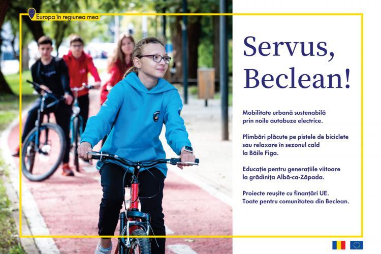 """""""Europa în regiunea mea"""": mobilitate urbană și alte facilități pentru comunitate, create la Beclean cu bani europeni"""