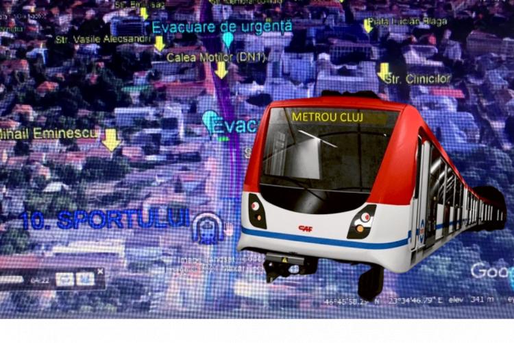 METROU Cluj - Traseul METROULUI, stațiile și alte detalii prezentate pe simularea Google Earth Pro - VIDEO
