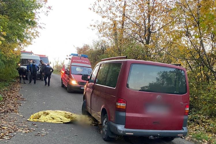 Scuterist accidentat mortal la Cluj, pe Drumul Comunal 134, în Bicălatu (Huedin). A fost trimis și elicopterul SMURD - FOTO