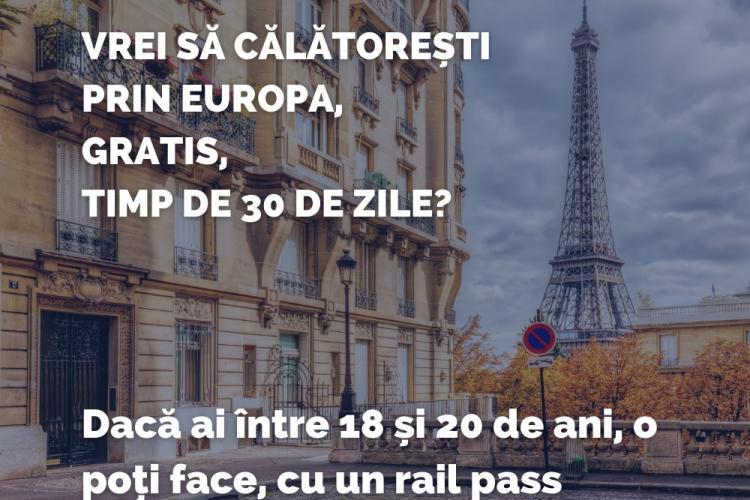 Călătorii gratuite în Uniunea Europeană pentru tinerii de 18-20 de ani!