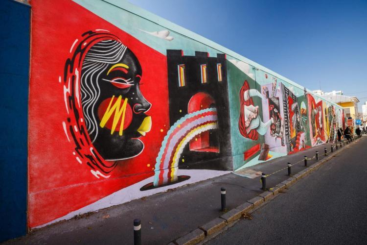 Artiștii din Nantes și Cluj au pictat un zid de pe strada Constanța, din Cluj-Napoca - FOTO