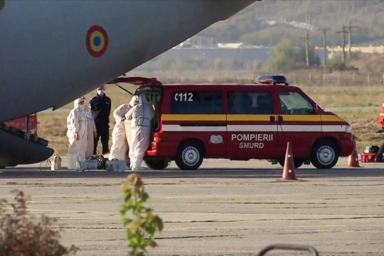 Cluj: Avionul Spartan care ducea trei paciente grave COVID în Austria, oprit de la decolare. Criza locurilor în spitale face ravagii
