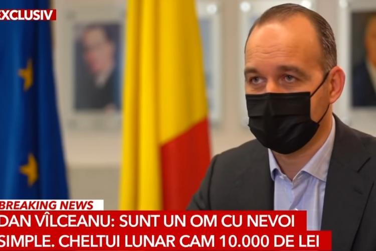 """Dan Vîlceanu, ministrul Finanţelor: """"Sunt un om cu nevoi simple!"""" Cheltui lunar 10.000 de lei"""