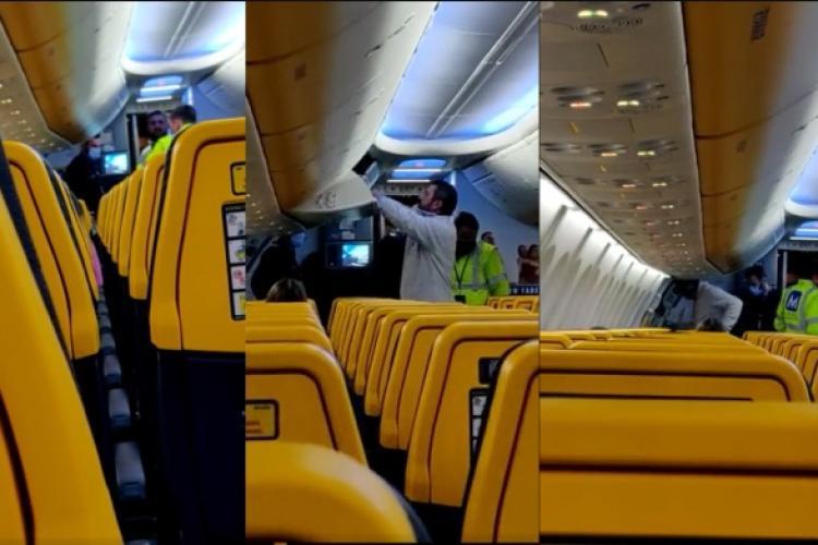 Scandalagiu DAT JOS dintr-un avion, pe ruta Cluj-Londra, pentru că refuza să poarte mască - FOTO