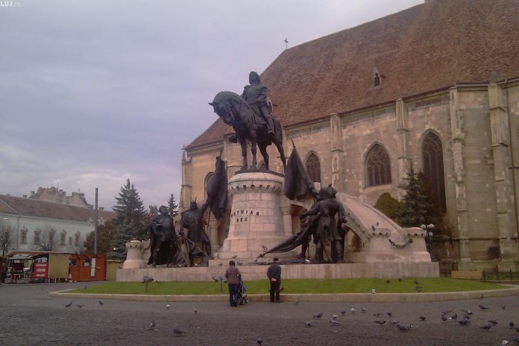 Statuia restaurata a lui Matei Corvin va fi inaugurata pe 2 aprilie
