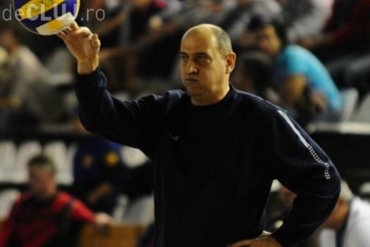 Danut Ciontos, antrenorul echipei de volei a U Cluj, a fost demis