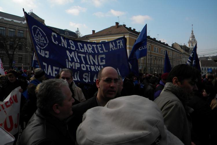 3.000 de sindicalisti au blocat Clujul! VEZI Galerie FOTO